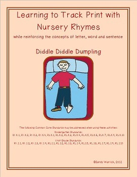 Learning to Track Print with Nursery Rhymes: Diddle Diddle