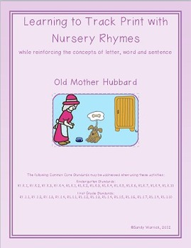 Learning to Track Print with Nursery Rhymes:  Old Mother Hubbard