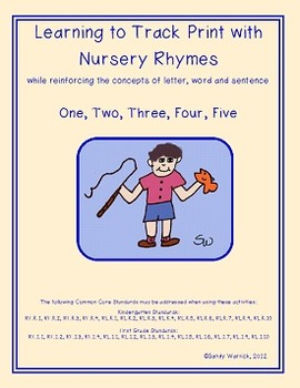 Learning to Track Print with Nursery Rhymes: One, Two, Thr