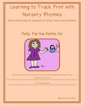 Learning to Track Print with Nursery Rhymes: Polly Put the
