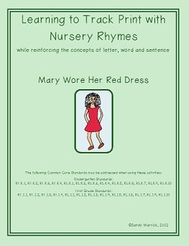 Learning to Track Print with Nursery Rhymes & Songs: Mary