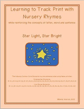 Learning to Track Print with Nursery Rhymes: Star Light, S