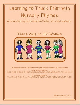 Learning to Track Print with Nursery Rhymes: There was an