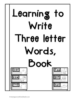 Learning to Write Three Letter Words Book