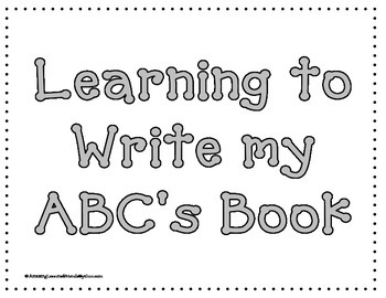 Learning to Write my ABC's Book