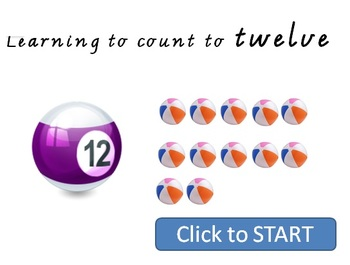 Learning to count to 12 - Interactive Whiteboard Lesson