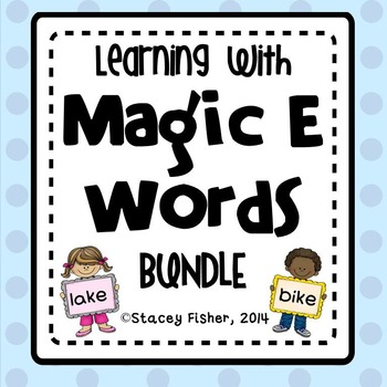 Learning with Magic E Words BUNDLE-Games, Print & Go, & Sp