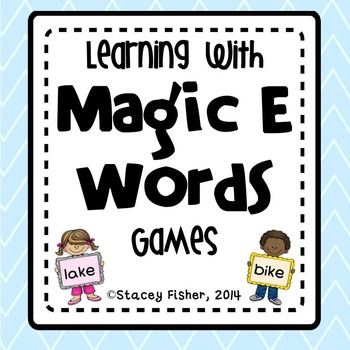 Learning with Magic E Words-CVCe and CCVCe Word Games