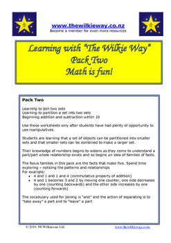 Learning with Wilkie Way Pack Two Beginning Addition and S