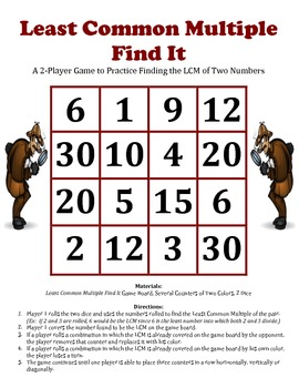 Least Common Multiple (LCM) Find It - A 2-Player Game to F