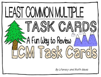 Least Common Multiple (LCM) Task Cards