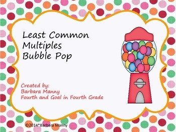 Least Common Multiples Bubble Pop