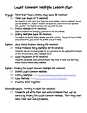 Least Common Multiples Lesson Plan and Activities