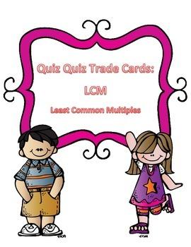 Least Common Multiple Quiz Quiz Trade Cards