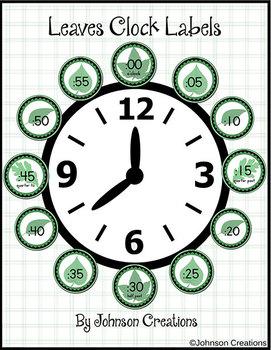 Leaves Clock Labels