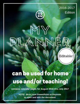 Leaves Planner and Calendar (Editable and Customizable)