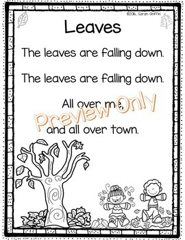 Leaves Poem - Fall poetry printable