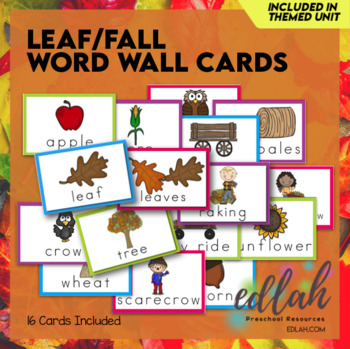 Leaves Word Wall Cards (set of 5)