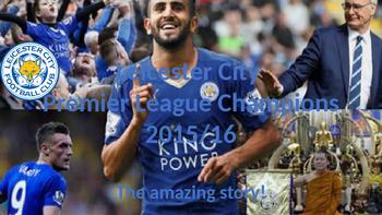 Leceister City English Soccer Premier League Champions 2015/16