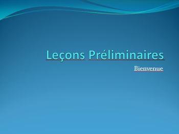 Leçons Préliminaires PowerPoint - An Introduction to Learn