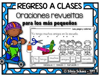 Oraciones revueltas para los más pequeños - Regreso a clases