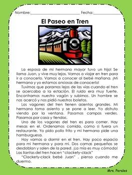 Lecturas de Comprehension en Español