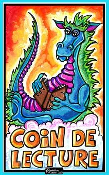 Lecture: Affiche pour le coin lecture, Dragon