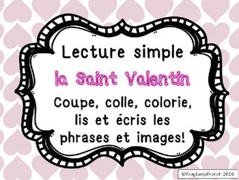 Lecture Simple Saint Valentin-Coupe, Colle, Lis et Ecris//