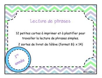 Lecture de phrases - 1re année