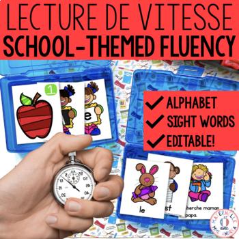 Lecture de vitesse - À l'école (FRENCH School Fluency Prac