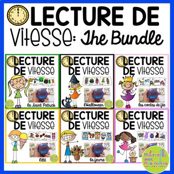 Lecture de vitesse - BUNDLE (FRENCH Speed Reading Fluency