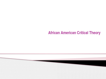Lecture on African American Literary Criticism