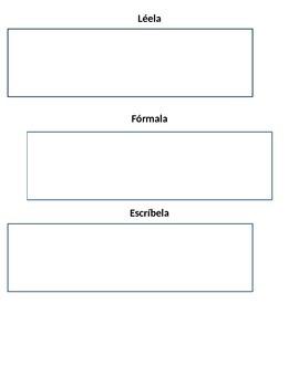 Lee, Forma, Escribe Sight Word Practice Mat