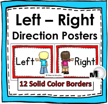 Left - Right Direction Posters – Solid Color Borders