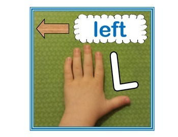 Left and Right Directional Word Posters