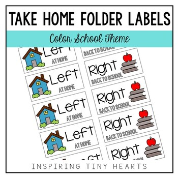 Left at Home & Right Back to School - Take Home Folder Lab