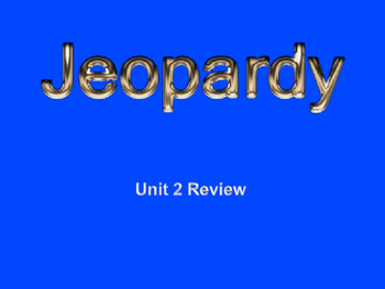 Legal Issues  - Jeopardy Review