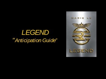 Legend by Marie Lu - Anticipation Guide