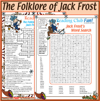 Legend of Jack Frost Set - Crossword Puzzle, Word Search,