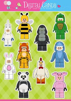 Lego Clipart - Lego Animal Suit Characters - Animal Clipar