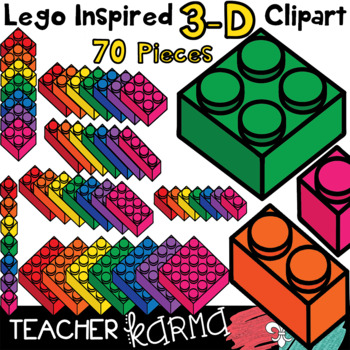 Lego Inspired 3-D Manipulative Blocks * Math Hands-on Strategy