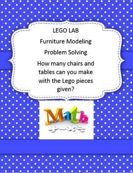 Lego Lab Math 1 2 3 Furniture Market Problem Modeling