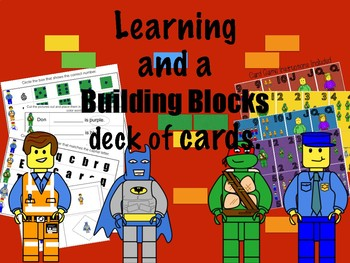 (Lego like blocks) Learning and a Deck of Cards with Games