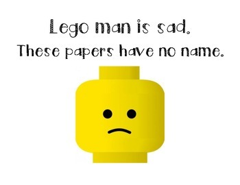 Lego Man is Sad. No Name Papers