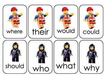 Lego Movie Sight Word Game