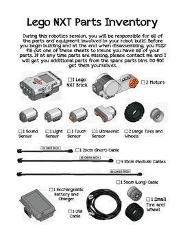 Lego NXT Robotics Parts Inventory List