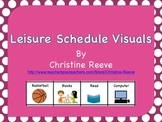 Leisure Schedule Board Freebie (Autism, Special Education)