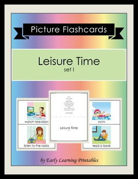 Leisure Time (set I) Picture Flashcards
