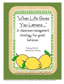 Lemon Drop Classroom Mangagment Packet