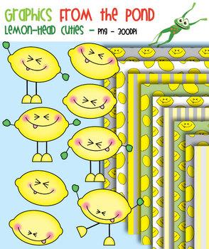 Lemon Head Cuties - Clipart for Teachers and Classrooms